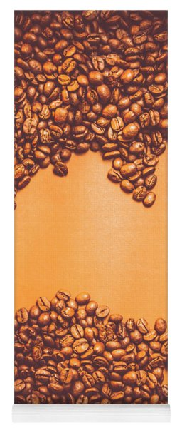 Roasted Australian Coffee Beans Background Yoga Mat