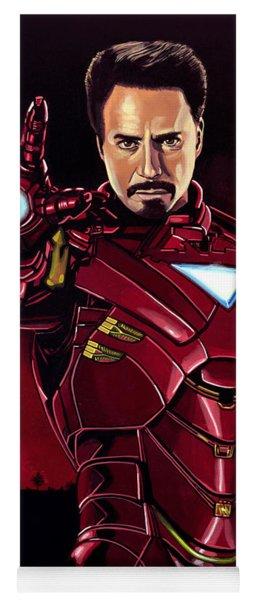 Robert Downey Jr. As Iron Man  Yoga Mat