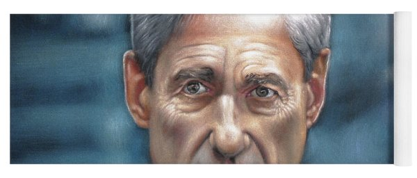 Robert Mueller Portrait , Head Of The Special Counsel Investigation Yoga Mat