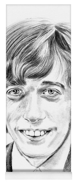 Robin Gibb Drawing Yoga Mat