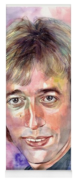 Robin Gibb Portrait Watercolor Yoga Mat