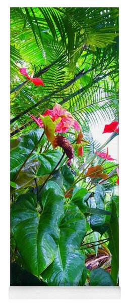 Robins Garden With Anthuriums And Ferns Yoga Mat
