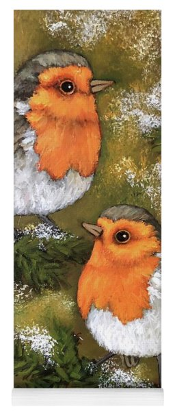 Robins, Winter Yoga Mat