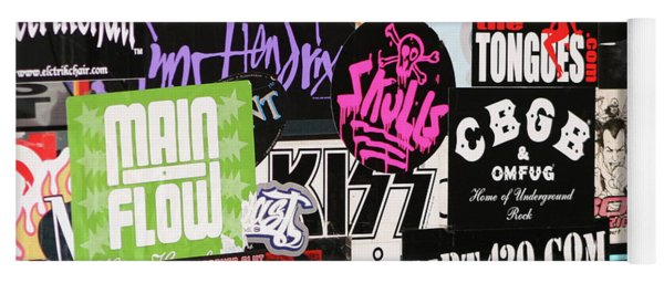 Rock And Roll Stickers Yoga Mat