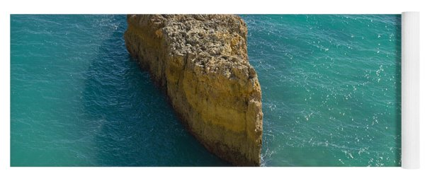 Rock Formation And The Sea In Algarve Yoga Mat