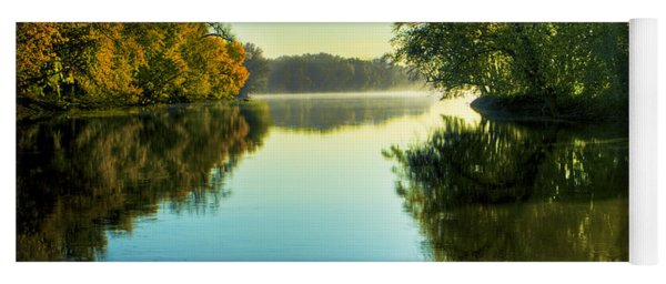 Rock River Autumn Morning Yoga Mat