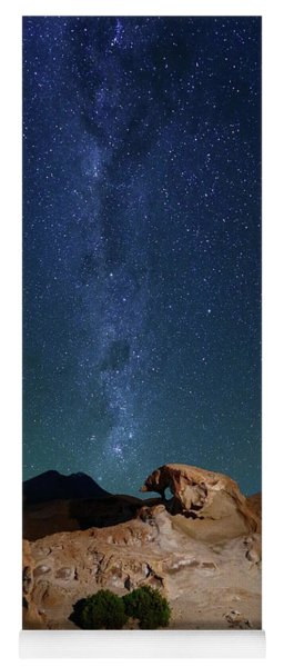 Rock Sculptures And The Milky Way In Southwest Bolivia Yoga Mat