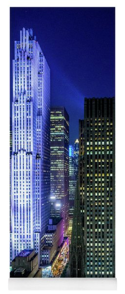 Rockefeller At Night Yoga Mat