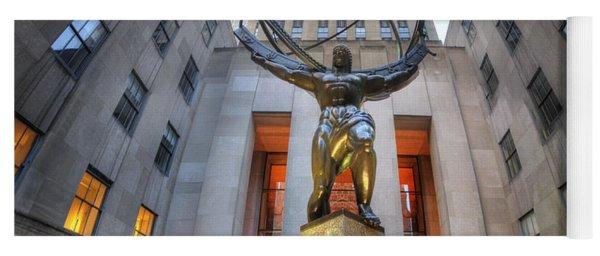 Rockefeller Centre Atlas - Nyc - Vertorama Yoga Mat