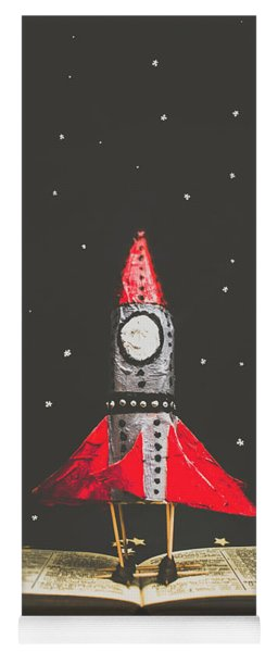 Rockets And Cartoon Puzzle Star Dust Yoga Mat