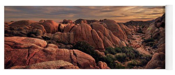 Rocks At Sunrise Yoga Mat