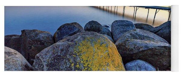 Rocks On Beach Park Yoga Mat