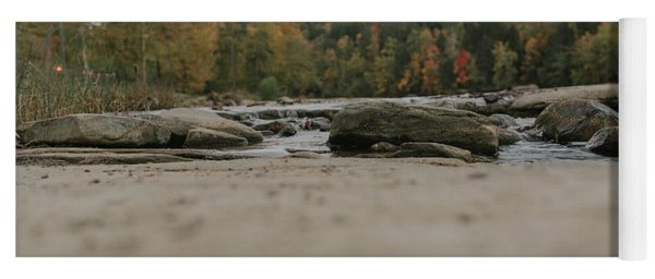 Rocks On Cumberland River Yoga Mat