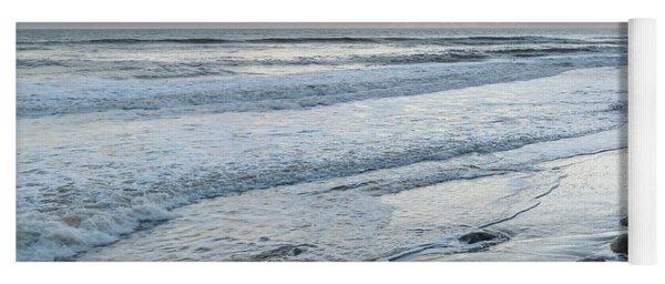 Rocks On The Beach During Sunset Yoga Mat