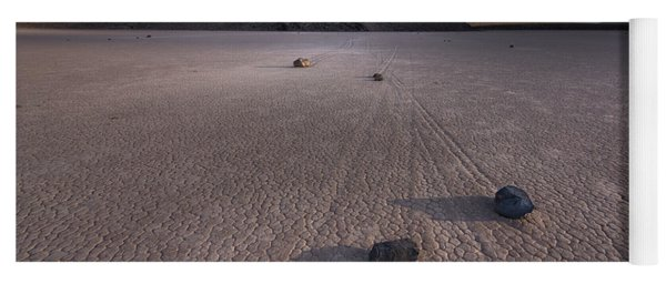 Rocks On The Racetrack Death Valley Yoga Mat