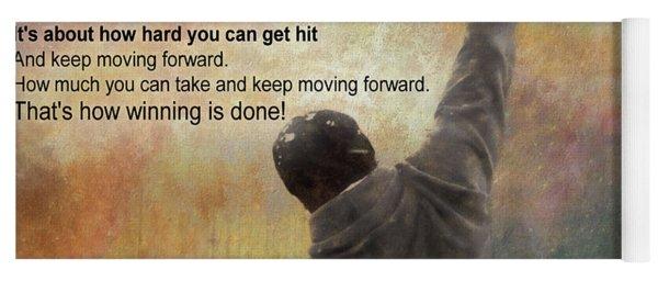 Rocky Balboa Inspirational Quote Yoga Mat