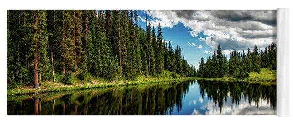 Rocky Mountain Lake Irene Yoga Mat