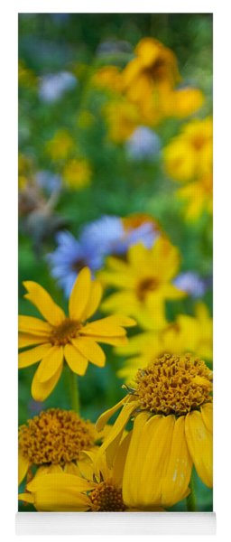 Yoga Mat featuring the photograph Rocky Mountain Wildflowers by Cascade Colors