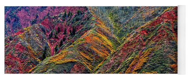 Rocky Mountains In The Fall Yoga Mat