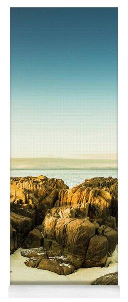 Rocky Oceanscape Yoga Mat