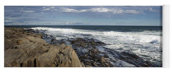 Rocky Shore Line Two Lights Maine  Yoga Mat