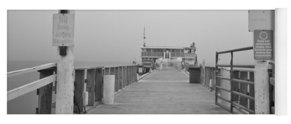 Rod And Reel Pier In Fog In Infrared 53 Yoga Mat