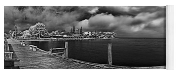 Rod And Reel Pier In Infrared Yoga Mat