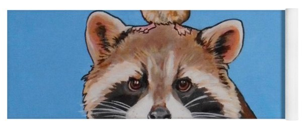 Rodney The Raccoon Yoga Mat
