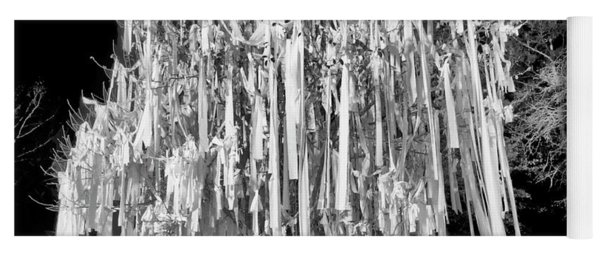 Rolled Tree Blk N White Yoga Mat