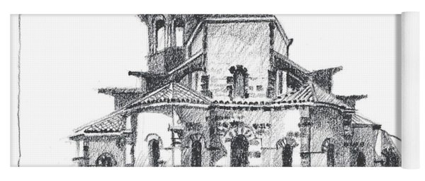 Roman Church At Chamalieres Yoga Mat