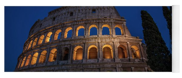 Roman Coliseum In The Evening  Yoga Mat
