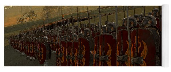 Roman Legion In Battle - Ancient Warfare Yoga Mat