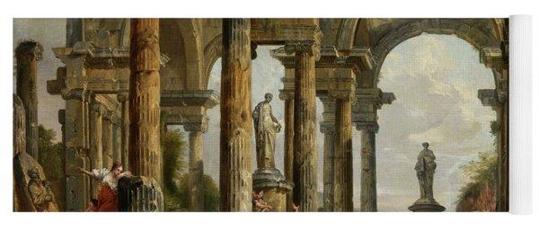 Roman Ruin Architecture With Predigendem St. Paul Yoga Mat