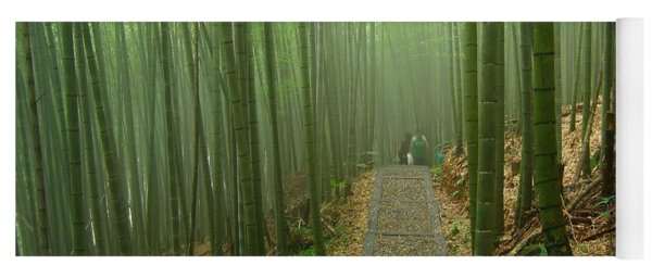 Romantic Bamboo Forest Yoga Mat