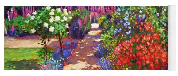 Romantic Garden Walk Yoga Mat