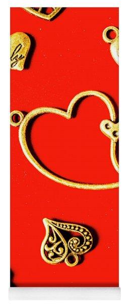 Romantic Heart Decorations Yoga Mat