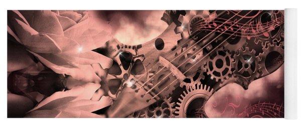 Romantic Stemapunk Violin Music Yoga Mat