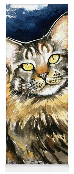 Ronja - Maine Coon Cat Painting Yoga Mat