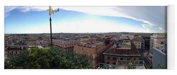 Rooftops Of Rome Yoga Mat
