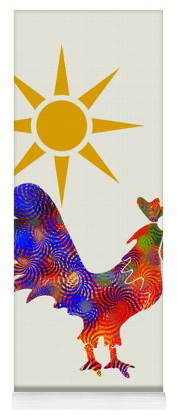 Rooster Pattern Art Yoga Mat