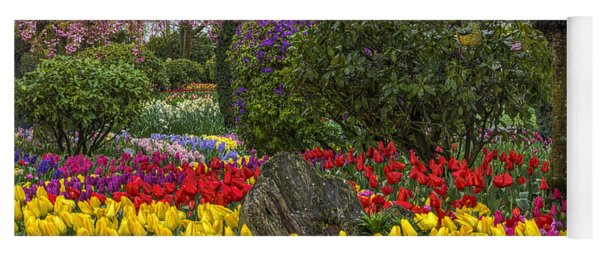 Roozengaarde Flower Garden Yoga Mat