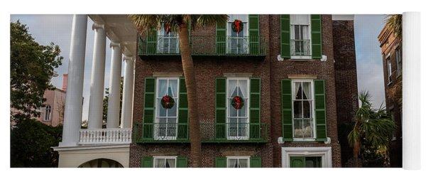 Roper Mansion In December Yoga Mat