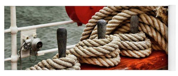 Sailboat Ropes Detail Yoga Mat
