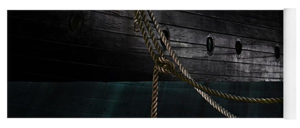 Ropes On The Uss Constellation Navy Ship Yoga Mat