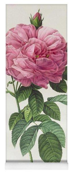 Rosa Gallica Flore Giganteo Yoga Mat