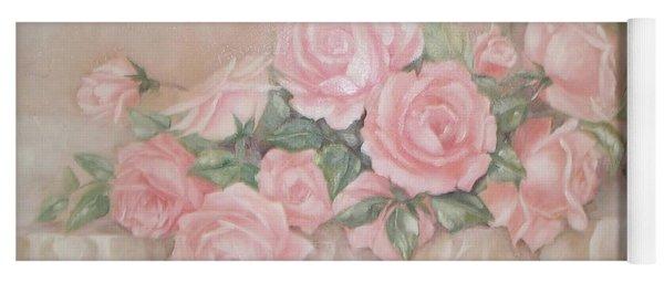 Rose Abundance Painting Yoga Mat