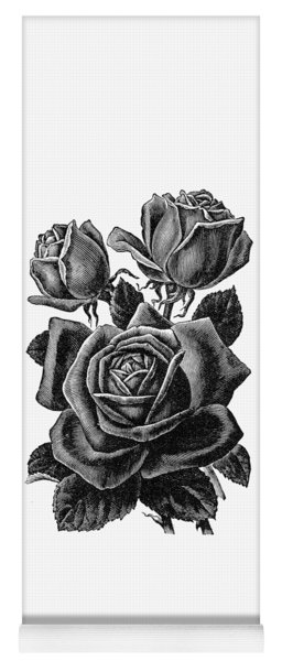 Rose Black Yoga Mat