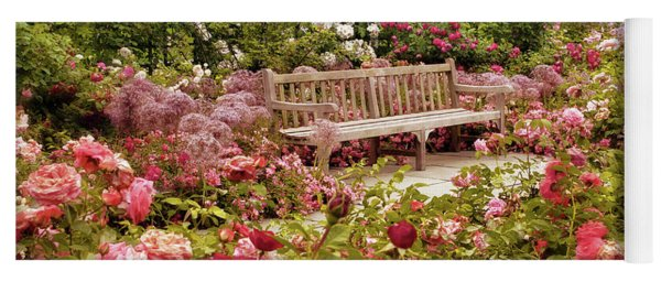 Yoga Mat featuring the photograph Rose Garden Sunset by Jessica Jenney