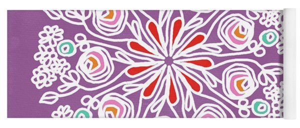 Rose Mandala 1- Art By Linda Woods Yoga Mat