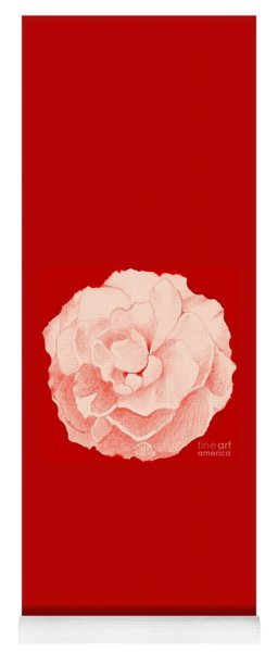 Rose On Red Yoga Mat